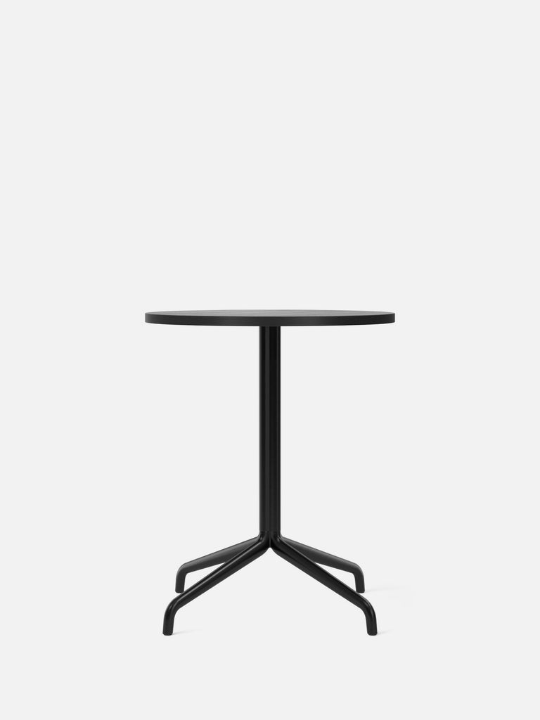 Harbour Column Table, Round-Café Table-Norm Architects-Dining Height (28.7in) - Star Base-Round 24in - Black Stained Oak Veneer-menu-minimalist-modern-danish-design-home-decor
