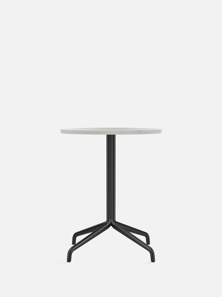 Harbour Column Table, Round-Café Table-Norm Architects-Dining Height (28.7in) - Star Base-Round 24in - Off White Marble-menu-minimalist-modern-danish-design-home-decor