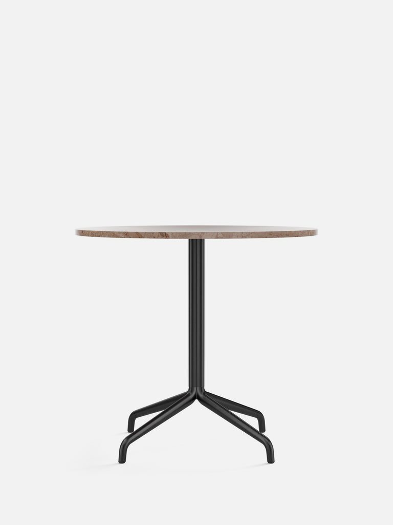 Harbour Column Table, Round-Café Table-Norm Architects-Dining Height (28.7in) - Star Base-Round 32in - Sand Stone-menu-minimalist-modern-danish-design-home-decor