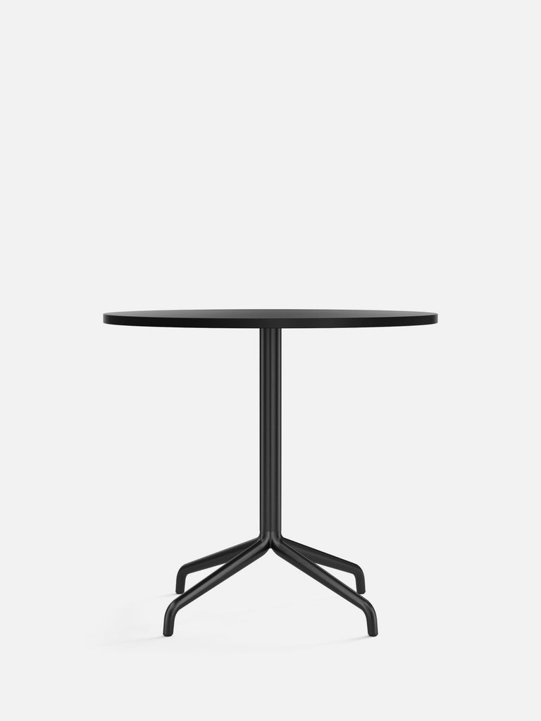 Harbour Column Table, Round-Café Table-Norm Architects-Dining Height (28.7in) - Star Base-Round 32in - Charcoal Linoleum-menu-minimalist-modern-danish-design-home-decor