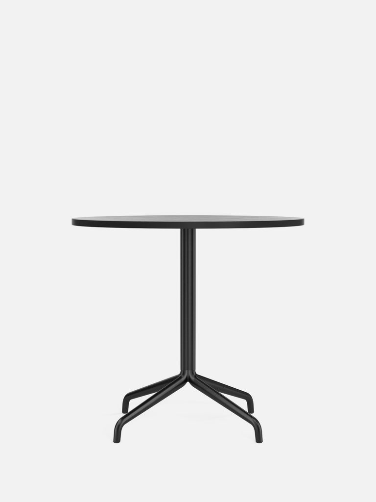 Harbour Column Table, Round-Café Table-Norm Architects-Dining Height (28.7in) - Star Base-Round 32in - Black Stained Oak Veneer-menu-minimalist-modern-danish-design-home-decor
