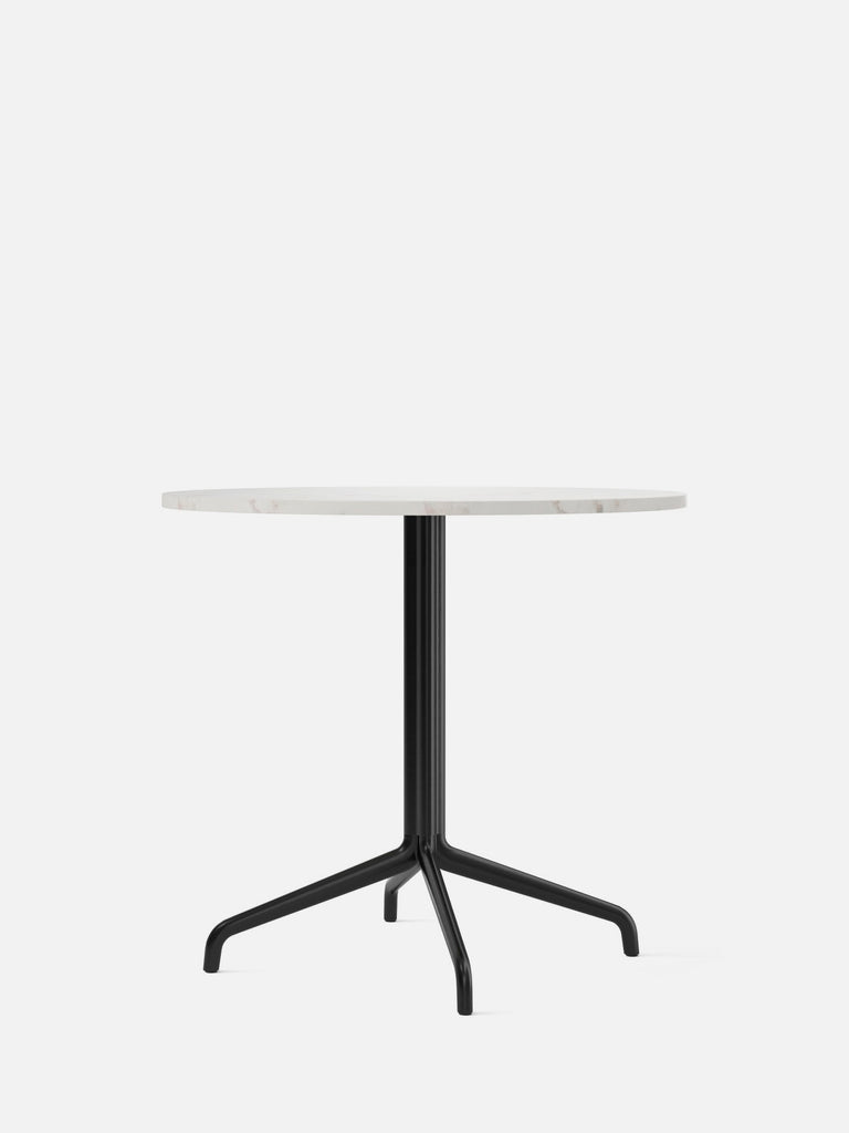 Harbour Column Table, Round-Café Table-Norm Architects-Dining Height (28.7in) - Star Base-Round 32in - Off White Marble-menu-minimalist-modern-danish-design-home-decor
