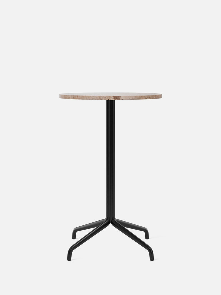 Harbour Column Table, Round-Café Table-Norm Architects-Counter Height (36.6in) - Star Base-Round 24in - Sand Stone-menu-minimalist-modern-danish-design-home-decor