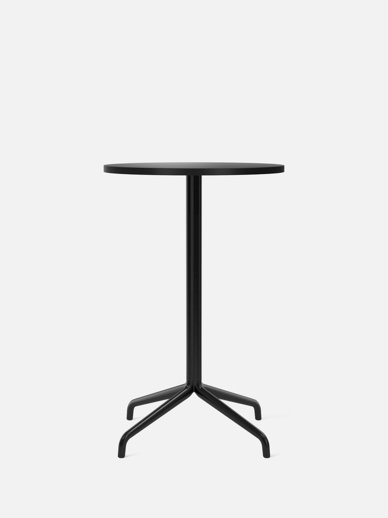 Harbour Column Table, Round-Café Table-Norm Architects-Counter Height (36.6in) - Star Base-Round 24in - Charcoal Linoleum-menu-minimalist-modern-danish-design-home-decor