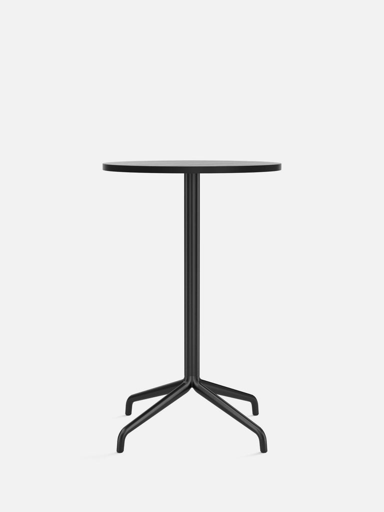 Harbour Column Table, Round-Café Table-Norm Architects-Counter Height (36.6in) - Star Base-Round 24in - Black Stained Oak Veneer-menu-minimalist-modern-danish-design-home-decor