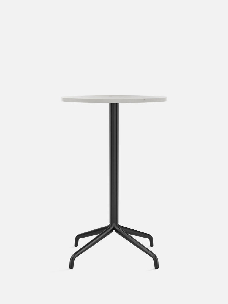 Harbour Column Table, Round-Café Table-Norm Architects-Counter Height (36.6in) - Star Base-Round 24in - Off White Marble-menu-minimalist-modern-danish-design-home-decor