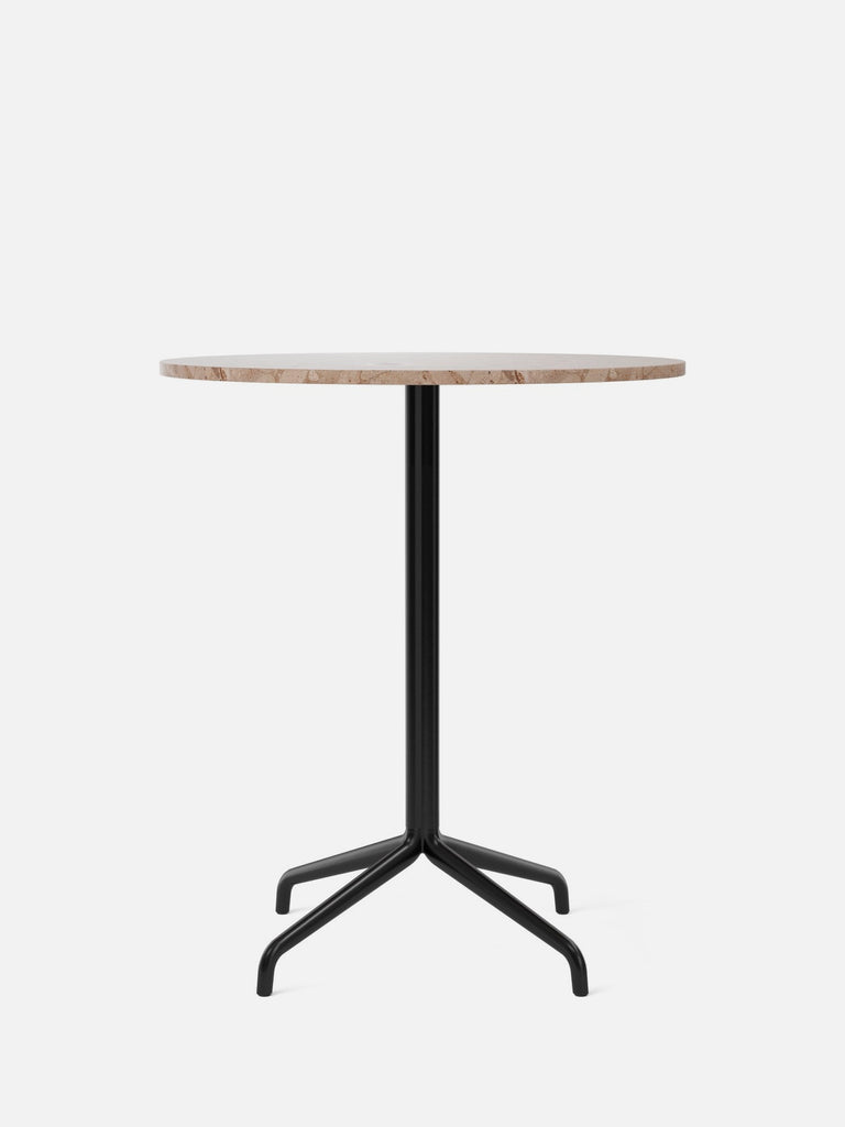 Harbour Column Table, Round-Café Table-Norm Architects-Counter Height (36.6in) - Star Base-Round 32in - Sand Stone-menu-minimalist-modern-danish-design-home-decor
