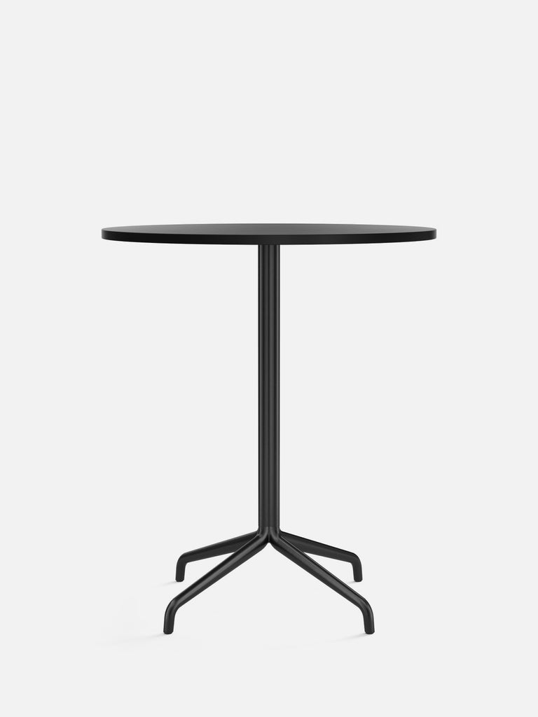 Harbour Column Table, Round-Café Table-Norm Architects-Counter Height (36.6in) - Star Base-Round 32in - Charcoal Linoleum-menu-minimalist-modern-danish-design-home-decor
