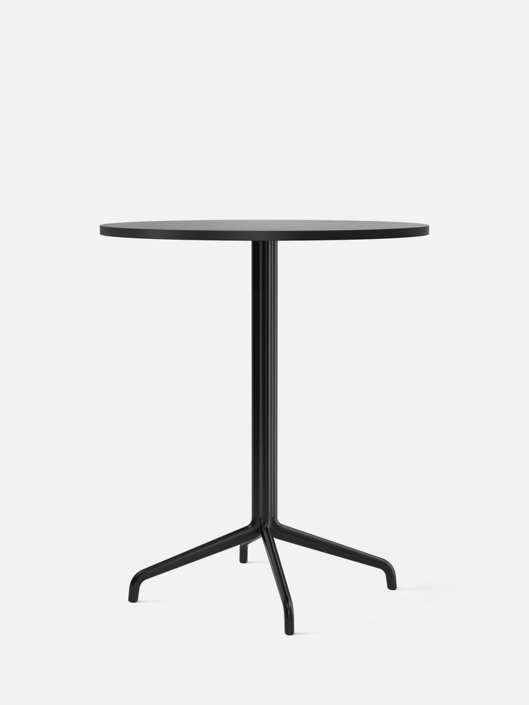 Harbour Column Table, Round-Café Table-Norm Architects-Counter Height (36.6in) - Star Base-Round 32in - Black Stained Oak Veneer-menu-minimalist-modern-danish-design-home-decor