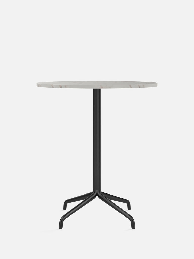 Harbour Column Table, Round-Café Table-Norm Architects-Counter Height (36.6in) - Star Base-Round 32in - Off White Marble-menu-minimalist-modern-danish-design-home-decor
