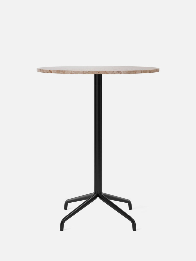 Harbour Column Table, Round-Café Table-Norm Architects-Bar Height (40.43in) - Star Base-Round 32in - Sand Stone-menu-minimalist-modern-danish-design-home-decor