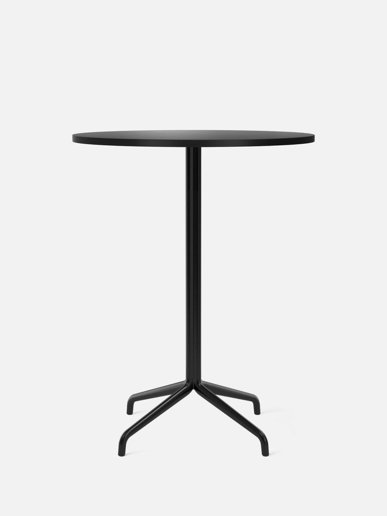 Harbour Column Table, Round-Café Table-Norm Architects-Bar Height (40.43in) - Star Base-Round 32in - Charcoal Linoleum-menu-minimalist-modern-danish-design-home-decor