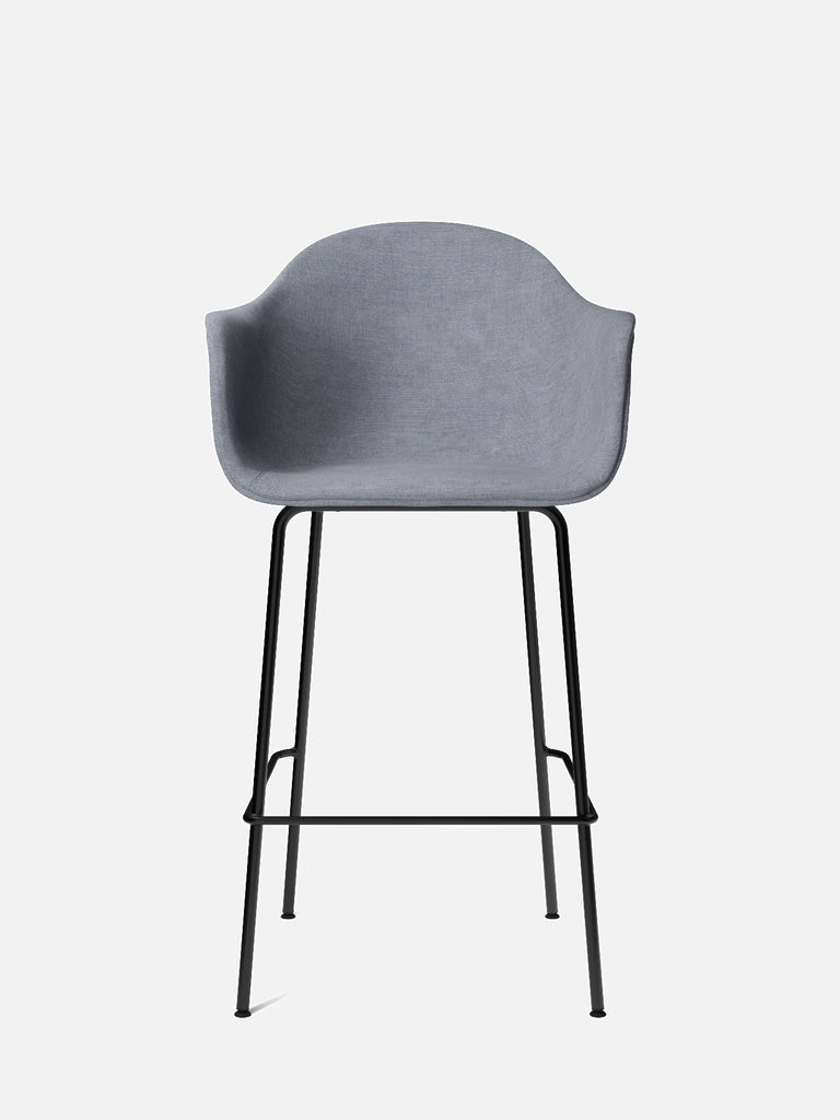 Harbour Arm Chair, Upholstered-Chair-Norm Architects-Bar Height (28.7in)/Black Steel-751/Fiord-menu-minimalist-modern-danish-design-home-decor
