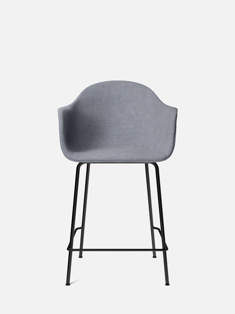Harbour Arm Chair, Upholstered-Chair-Norm Architects-Counter Height (24.8in)/Black Steel-751/Fiord-menu-minimalist-modern-danish-design-home-decor