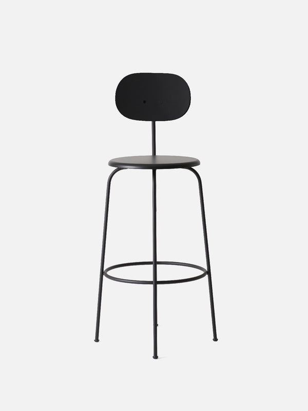 Afteroom Plus Chair, Non-Upholstered-Bar Chair-Afteroom Studio-Black Painted MDF-Bar Height (Seat 28.9in H)/Black Steel-menu-minimalist-modern-danish-design-home-decor