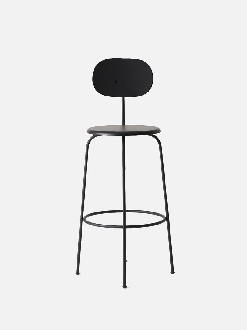 Afteroom Plus Chair, Non-Upholstered-Bar Chair-Afteroom Studio-Bar Height (Seat 28.9in H)/Black Steel-Black Painted MDF-menu-minimalist-modern-danish-design-home-decor