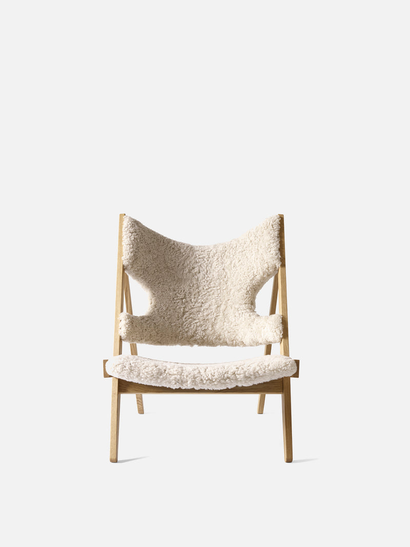 Knitting Chair, Sheepskin Upholstery-Lounge Chair-Ib Kofod-Larsen-Lounge Height (Seat 11.8in H)/Natural Oak-Moonlight 09-menu-minimalist-modern-danish-design-home-decor
