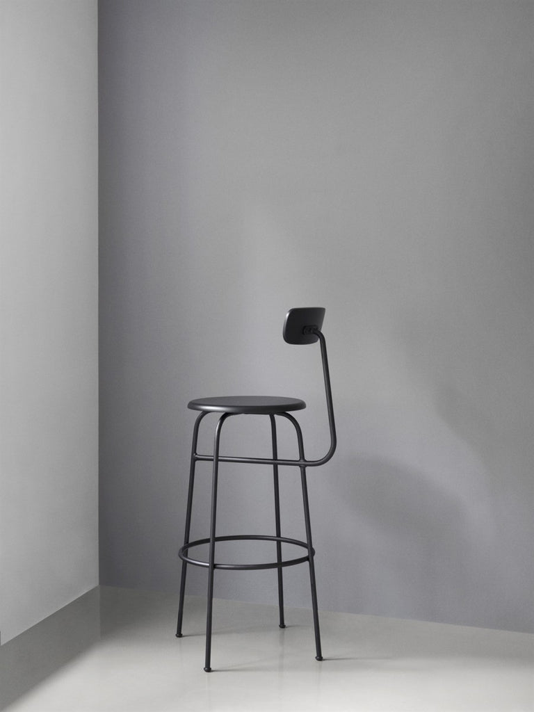 Afteroom Bar Chair-Bar Chair-Afteroom Studio-Black Painted MDF-menu-minimalist-modern-danish-design-home-decor