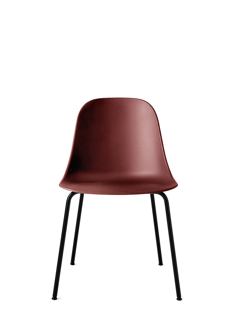 Harbour Side Chair, Hard Shell-Chair-Norm Architects-Burned Red-Dining Height (17.7in) - Black Steel-menu-minimalist-modern-danish-design-home-decor