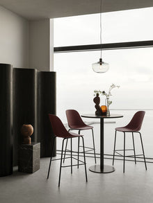 Harbour Column Table, Rectangular-Café Table-Norm Architects-menu-minimalist-modern-danish-design-home-decor