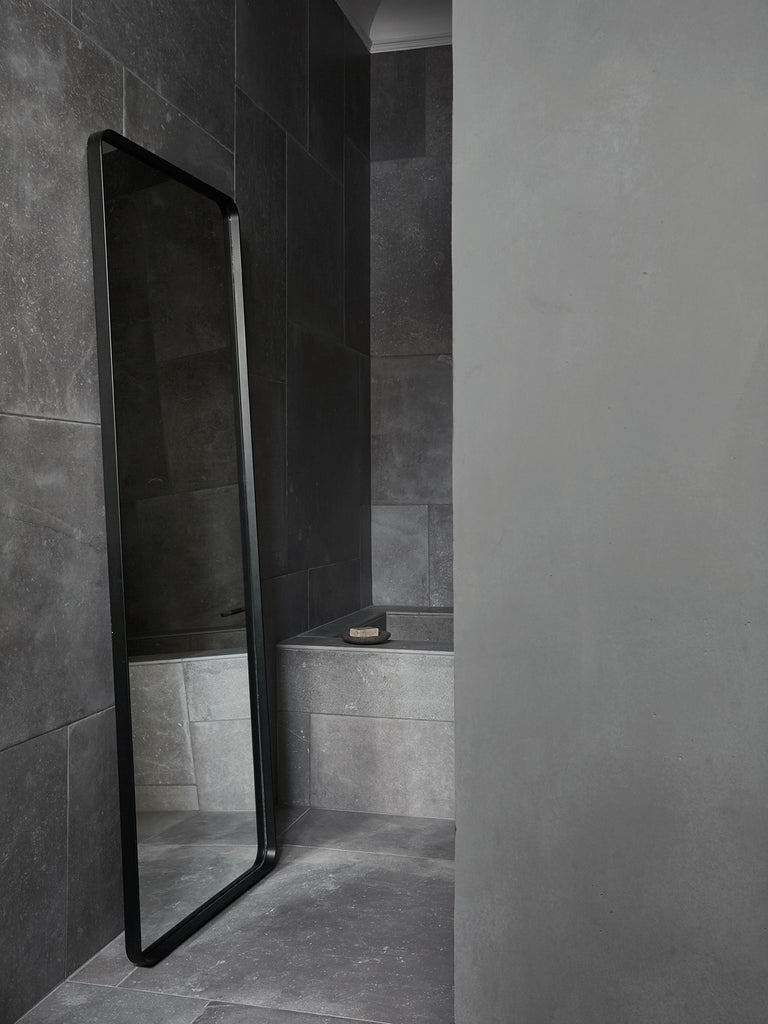 Bath Floor Mirror, Rectangular-Floor Mirror-Norm Architects-menu-minimalist-modern-danish-design-home-decor