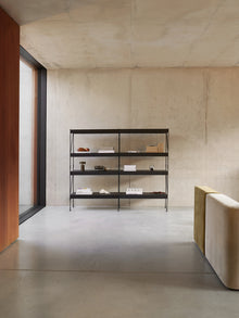 Zet Storage System, Black/Black-Shelving Unit-Kaschkasch Cologne-menu-minimalist-modern-danish-design-home-decor