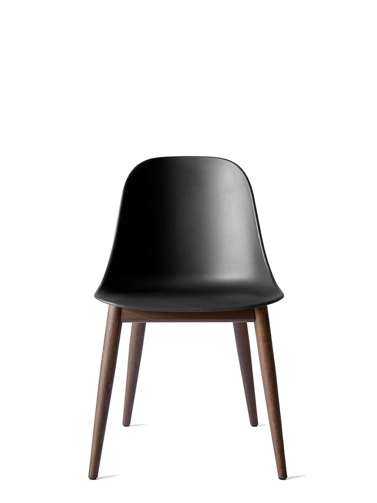 Harbour Side Chair, Hard Shell-Chair-Norm Architects-Table Height - Dark Oak-Black-menu-minimalist-modern-danish-design-home-decor