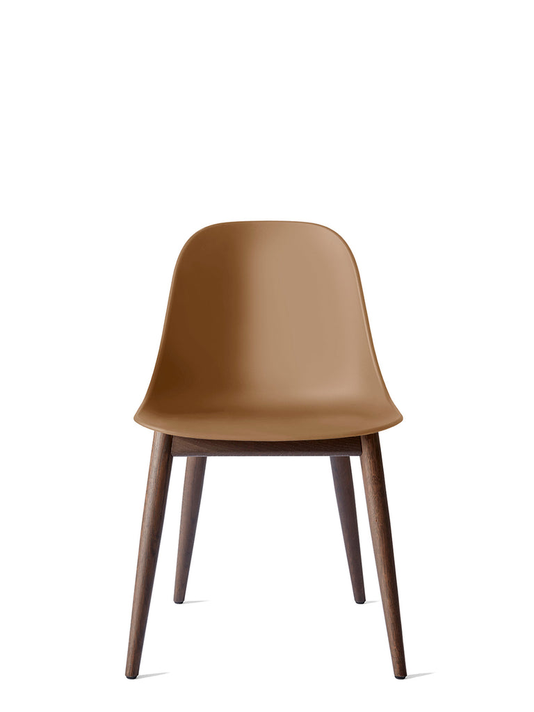 Harbour Side Chair, Hard Shell-Chair-Norm Architects-Table Height - Dark Oak-Khaki-menu-minimalist-modern-danish-design-home-decor