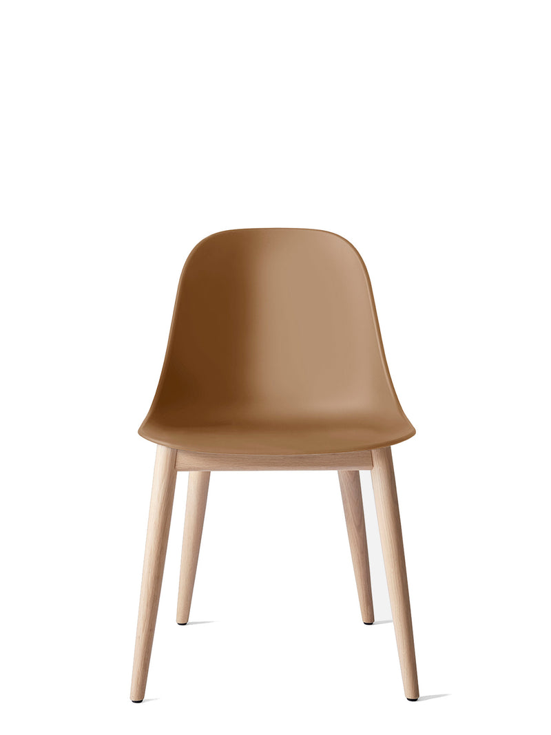 Harbour Side Chair, Hard Shell-Chair-Norm Architects-Khaki-Dining Height (Seat 17.7in H) - Natural Oak-menu-minimalist-modern-danish-design-home-decor