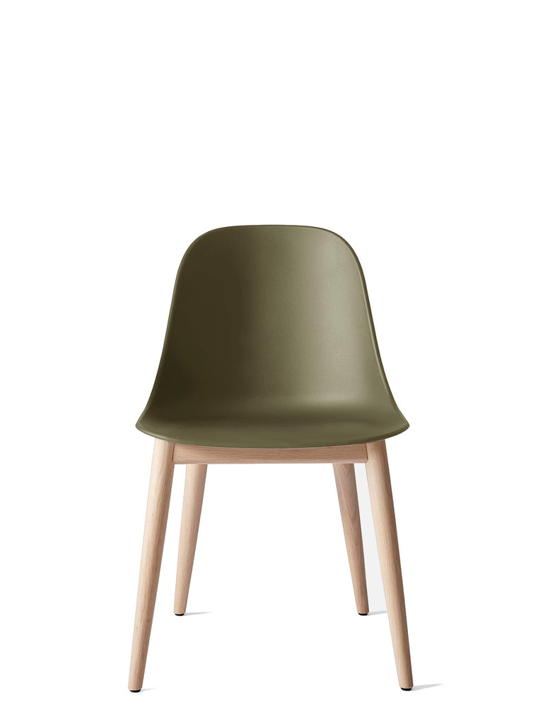 Harbour Side Chair, Hard Shell-Chair-Norm Architects-Olive-Dining Height (17.7in) - Natural Oak-menu-minimalist-modern-danish-design-home-decor