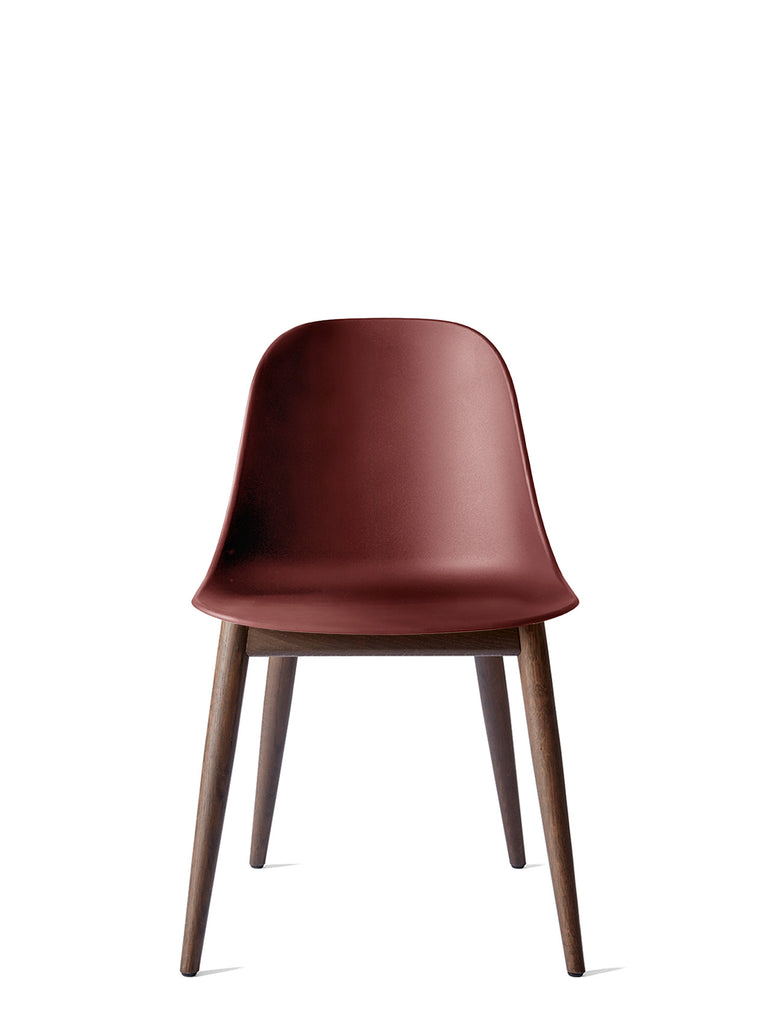 Harbour Side Chair, Hard Shell-Chair-Norm Architects-Table Height - Dark Oak-Burned Red-menu-minimalist-modern-danish-design-home-decor