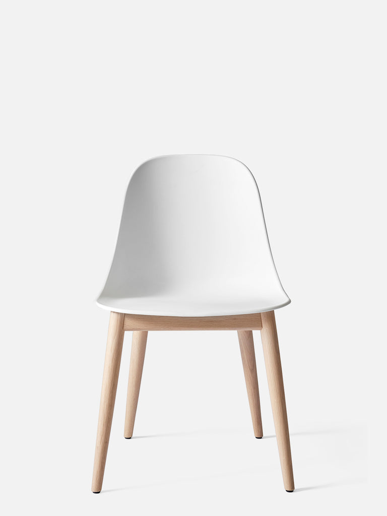 Harbour Side Chair, Hard Shell-Chair-Norm Architects-White-Dining Height (Seat 17.7in H) - Natural Oak-menu-minimalist-modern-danish-design-home-decor