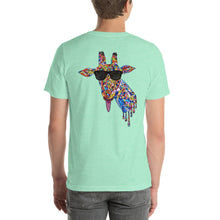 Load image into Gallery viewer, Sunglasses & Tongue Out Giraffe Short-Sleeve Shirt