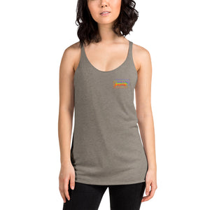 Small Trippy Logo Women's Racerback Tank - jiraffe Threads