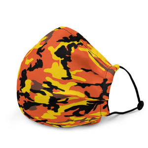Yellow & Orange Camo Premium Face Mask - jiraffe Threads