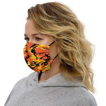 Load image into Gallery viewer, Yellow & Orange Camo Premium Face Mask - jiraffe Threads