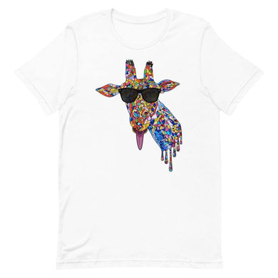 Sunglasses & Tongue Out Short-Sleeve Shirt