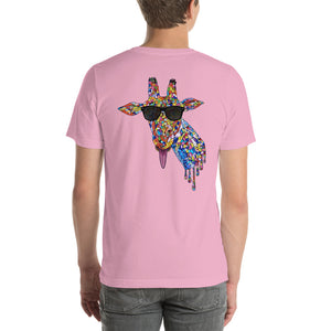 Sunglasses & Tongue Out Giraffe Short-Sleeve Shirt