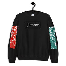 Load image into Gallery viewer, Red & Teal Paisley Giraffe Sweatshirt - jiraffe Threads