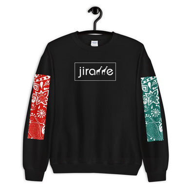 Red & Teal Paisley Giraffe Sweatshirt - jiraffe Threads
