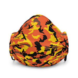 Yellow & Orange Camo Premium Face Mask