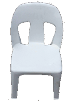 Africa Chair White Heavy Duty - SPECIAL (R74.00 For 100 & Over)