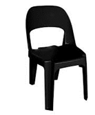 Alpine Chair Recycled Plastic Black Only - 300 Height