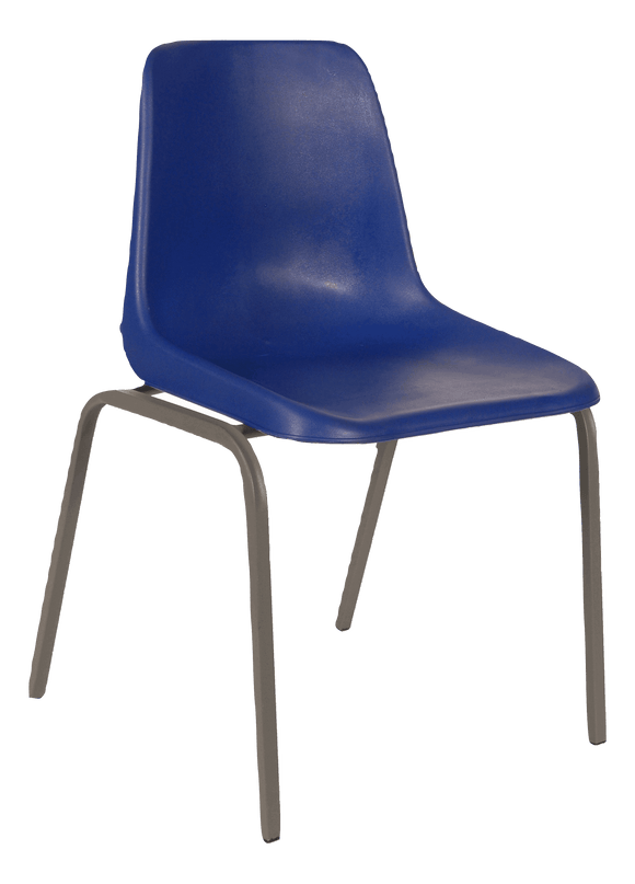 Polyshell Chair Virgin Plastic Blue - SPECIAL (R105.00 For 100 & Over)