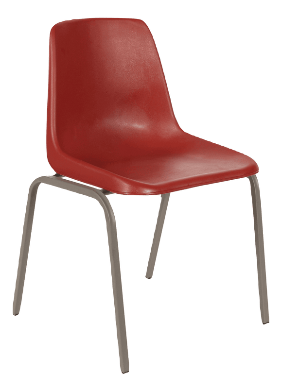Polyshell Chair Virgin Plastic Burgundy - SPECIAL (R105.00 For 100 & Over)
