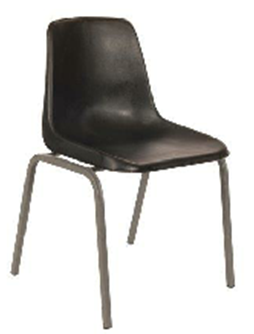 Polyshell Chair Virgin Plastic Black - SPECIAL (R105.00 For 100 & Over)