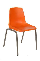 Polyshell Chair Virgin Plastic Orange - SPECIAL (R105.00 For 100 & Over)