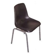 Polsyhell Chair Recycled Plastic Charcoal Only 375H