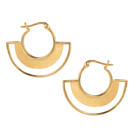 Art Deco Gold Demi-Hoop Earrings