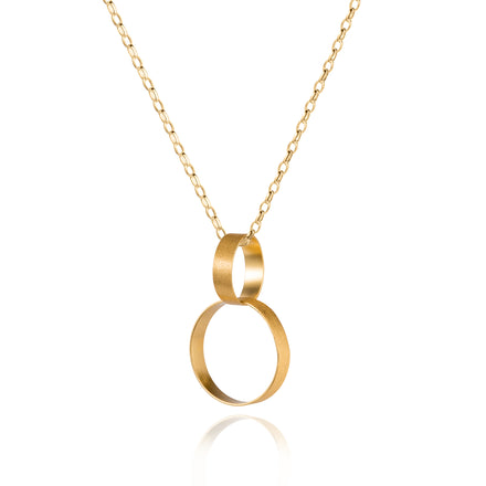 Double Hoop Gold Pendant